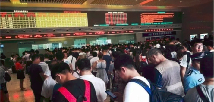 受台风影响 郑州东站停运38趟列车