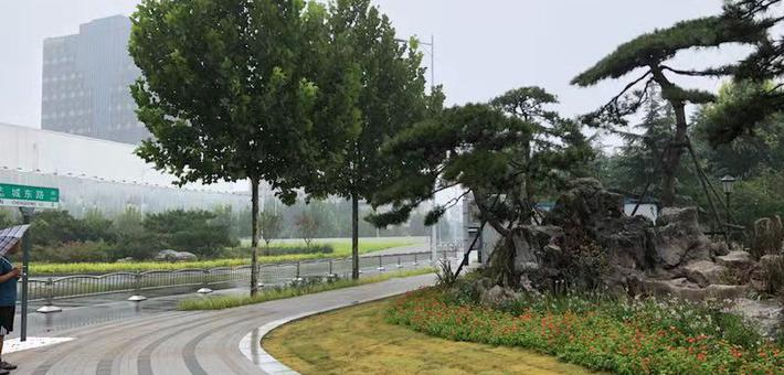 郑州紫荆山公园拆围挡 你期待的公园城市