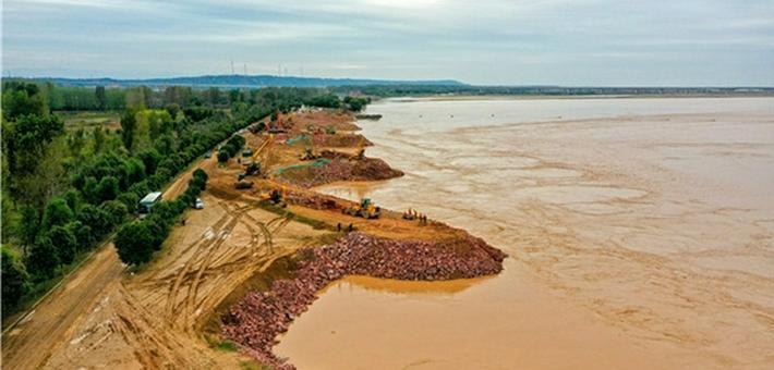 黄河洪水进入退水期