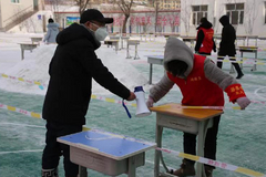 甘南县千余名志愿者支援核酸检测一线