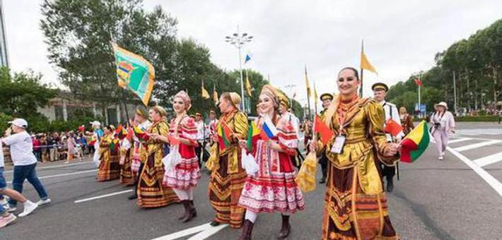 中俄文化大集在黑河开幕