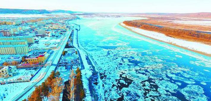 黑龙江呼玛段进入冬季溜冰期