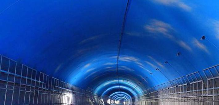 """长沙这条隧道里可见""""蓝天白云"""""""