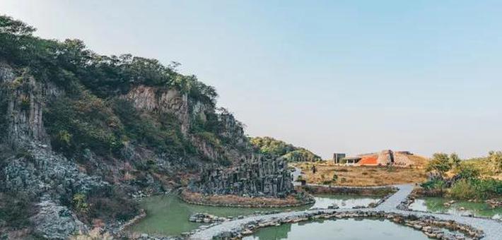 火山岩石柱景观,在扬州就能看到