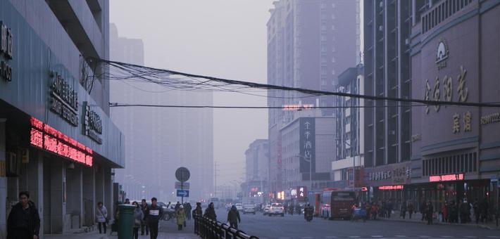 雾锁春城 省气象台发布霾黄色预警