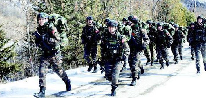 武警通化支队开展通化片区极限训练
