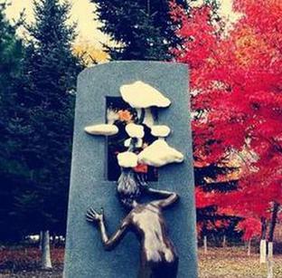 雕塑园的秋