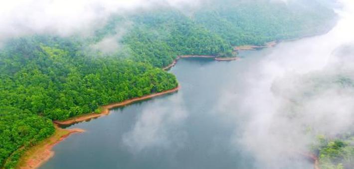 航拍东乡佛岭国际公园