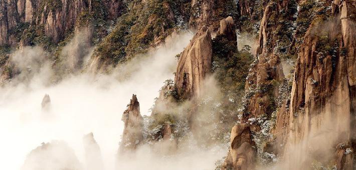 雪后三清山:云雾缥缈 如梦如幻