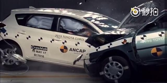 视频:98款Corolla碰撞测试15款Corolla