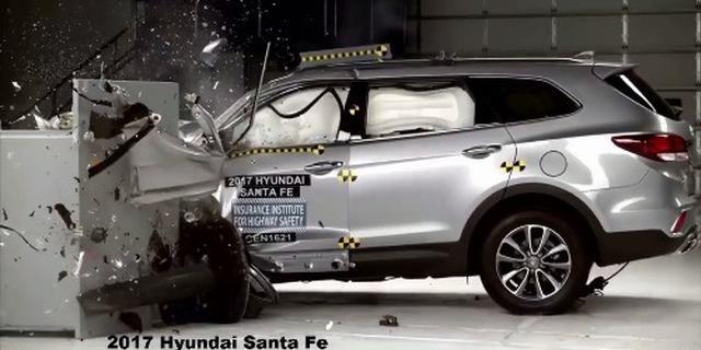 视频:马自达CX9 VS 现代胜达 VS 丰田汉兰达碰撞测试对比