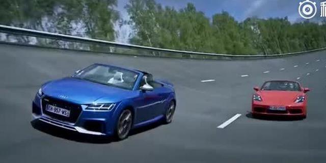 视频:跑车之战 奥迪TT RS对比718 Boxster S