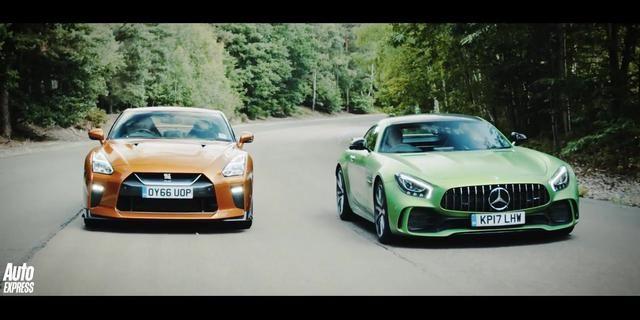 视频:战神尼桑GT-R &梅赛德斯奔驰AMG GT-R