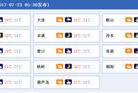 辽宁今日全省五地有阵雨 最高气温仅29℃