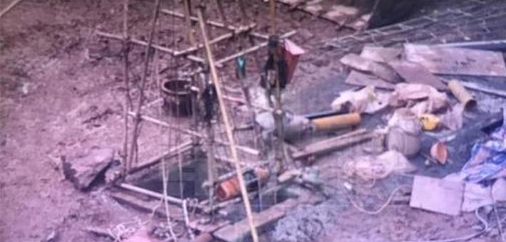 渝中区一工地出事 工人深井内被砸伤