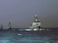 解放军两支舰艇编队南海演练