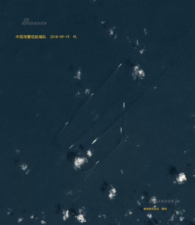 卫星图曝中日在钓鱼岛对峙现场