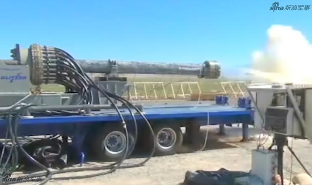 美军试验电磁轨道炮连射 25秒2连击射程185公里