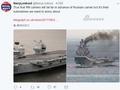 英国航母试航嘲笑俄罗斯:可连舰载机都是假的