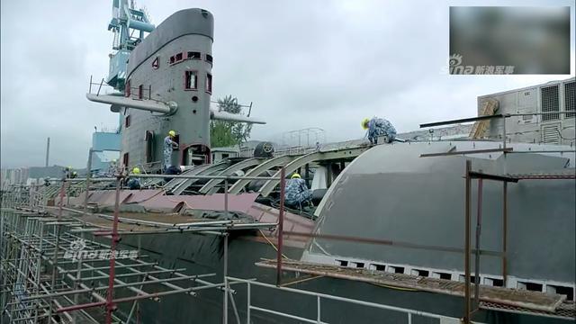 中国039型潜艇的制造现场曝光