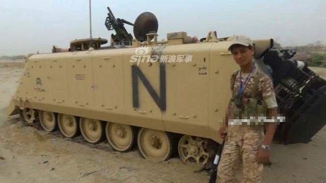 沙特多辆战车被胡塞武装