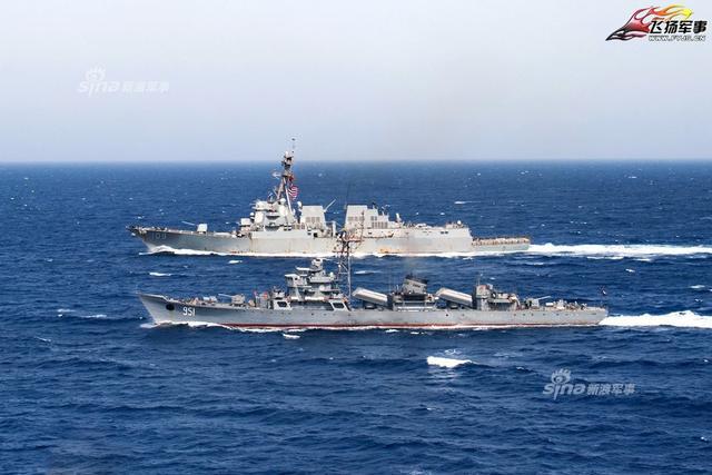 埃及购华053HE舰伴航美伯克级