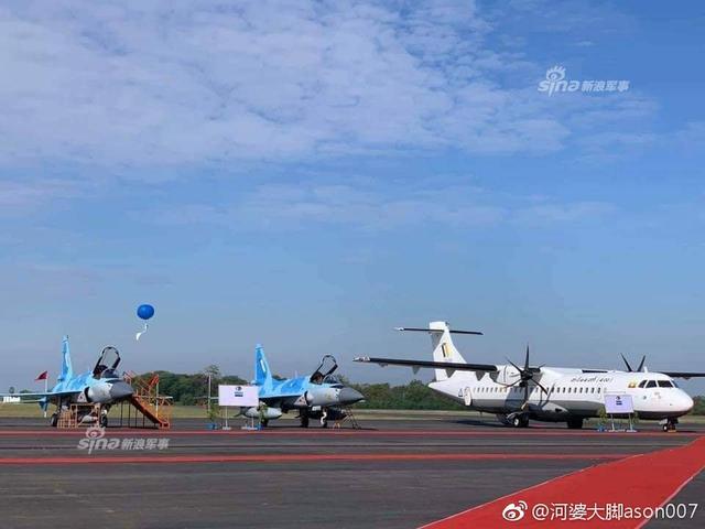 缅甸空军展示4架中国枭龙战机