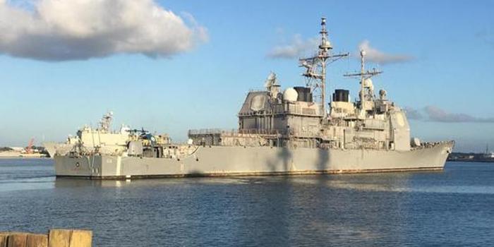 美海军万吨巡洋舰返港大修 将进行现代化全新升级