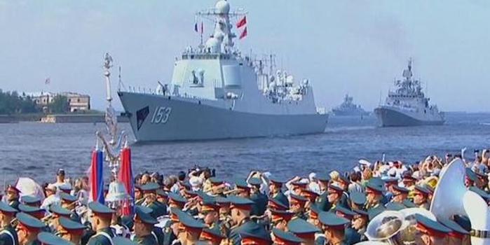 俄多地盛大慶祝海軍節 中華神盾艦參加海上閱兵
