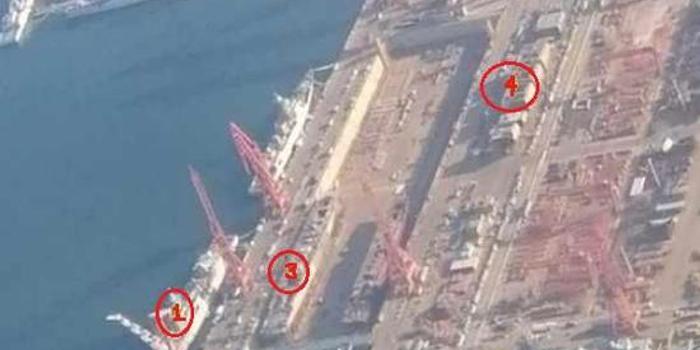 大连造船厂干船坞又有新变化 首批8艘055舰同时开建
