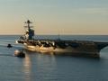 美军最新核动力航母福特号今日服役 耗资百亿美元