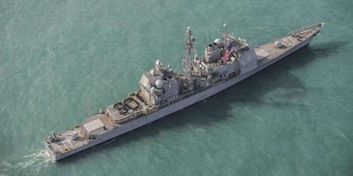 美军1艘宙斯盾巡洋舰昨晚穿越台湾海峡