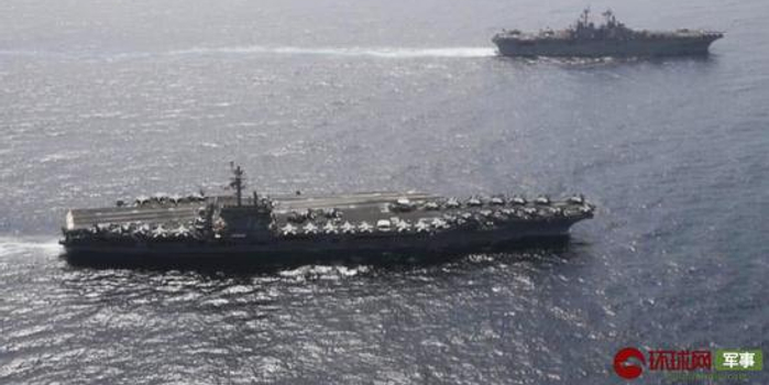 美军航母进海湾示强还是示弱 将被伊朗数百导弹瞄准