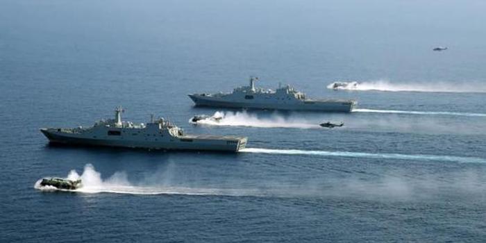解放军同时在东海及南海军演 台军忧越过