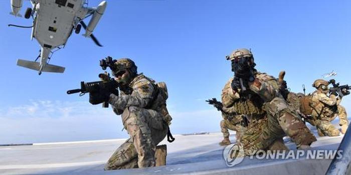 韩国独岛军演兵力翻倍 首次动用陆军特种部队夺岛