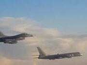 解放军轰6K等多架飞机今日绕台 台军F-16紧急升空