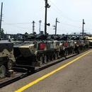 中國坦克戰車浩浩蕩蕩進入俄羅斯 參加軍事比賽(圖)