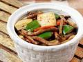 素食推荐:茶树菇烧豆腐