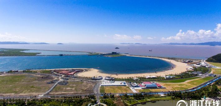 甬梅山湾沙滩公园局部开放试运营