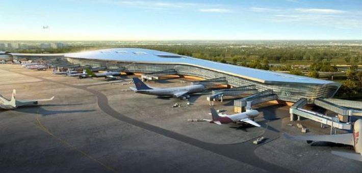 宁波机场T2航站楼完工90%