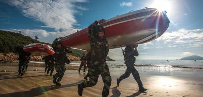 象山反劫持训练在海边打响