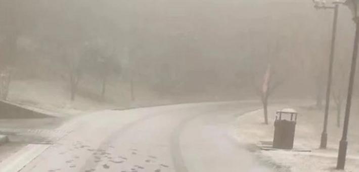 今冬宁波第一场雪潜入四明山