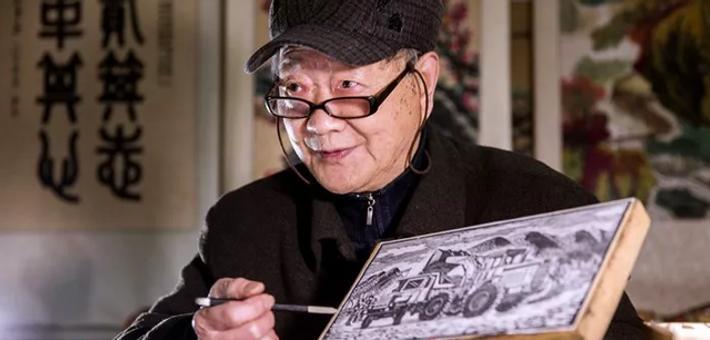 宁波八旬老人亲手演示木版年画