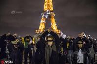 多国女性举行反暴力集会 黑布遮眼呼吁保护妇女权益