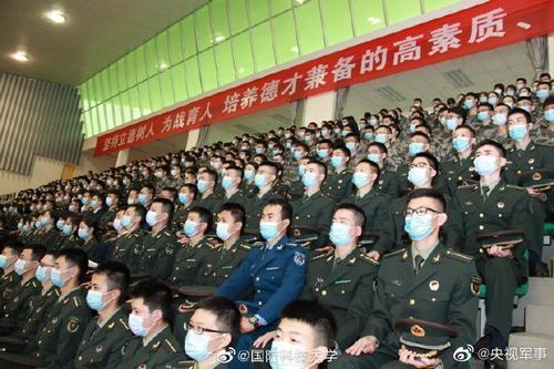 军校开学典礼现场整整齐齐