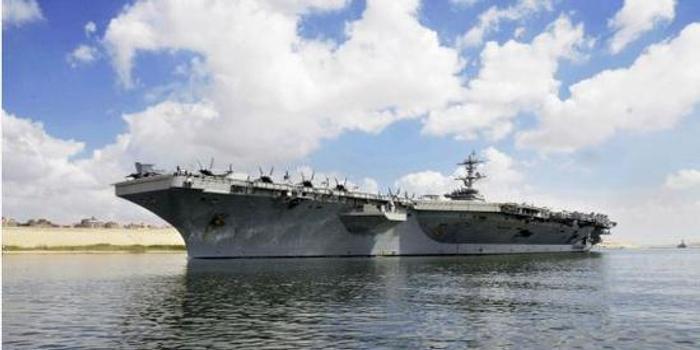 仅是敲山震虎吓唬伊朗?美国航母没有进海湾(图)