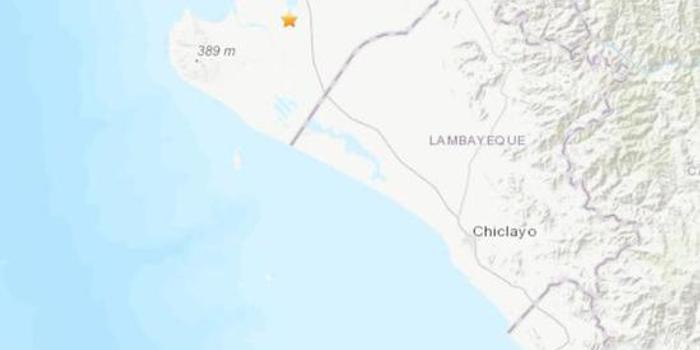 秘鲁西北部发生5.1级地震 震源深度56.4公里