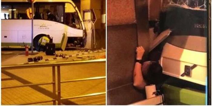 香港一旅游巴士失控酿惨剧:16人受伤 1人送医不治