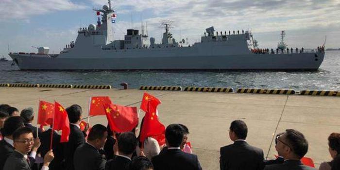 首次 中国海军舰艇抵达日本参加海上阅舰式