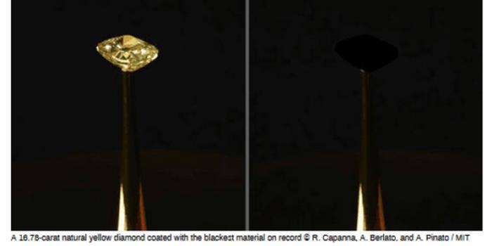 有史以来最黑材料被发现:能吸收99.995%入射光